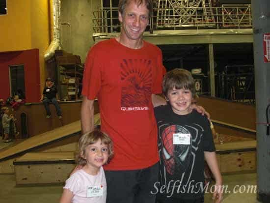 Fiona, Jake, and Tony Hawk