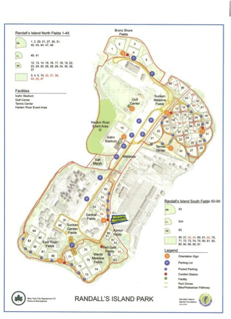 How in the world do you get to Randall's Island?   Amy Ever After Randalls Island Field Map on