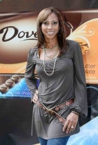Holly Robinson Peete and Dove Chocolate