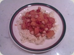 Healthy Butternut Squash with Chickpeas and Couscous