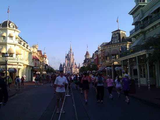 running through the Magic Kingdom