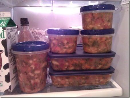 soup in fridge