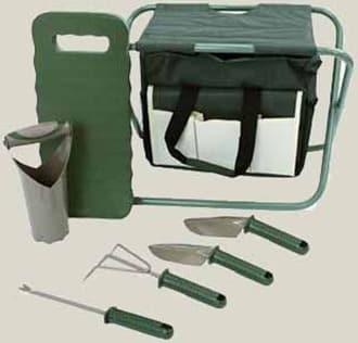 Gardening Set with Folding Seat