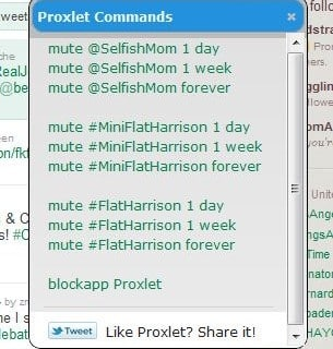The Twitter clean-up continues with Proxlet