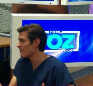 Sitting down with Dr. Oz