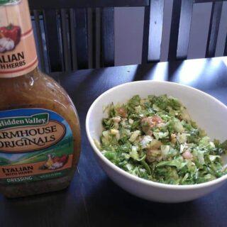 Hidden Valley and my big salads
