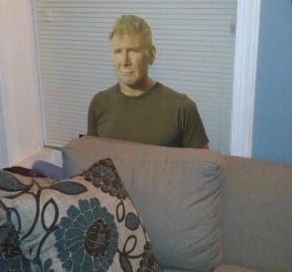 Harrison Ford is watching me sweat
