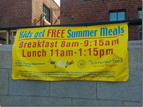 Summer Food Service Program signs