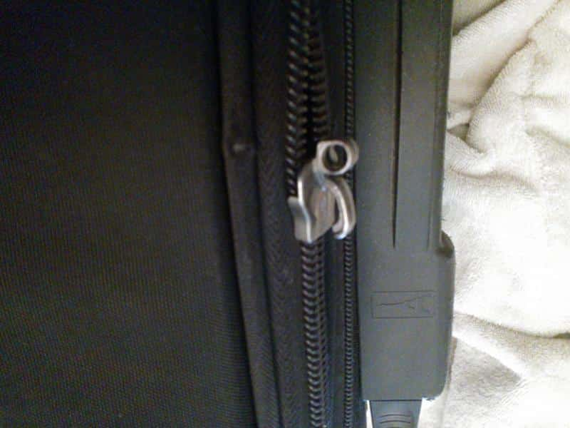 How to fix a zipper on a suitcase