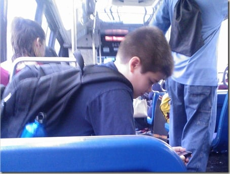 Jake on the bus