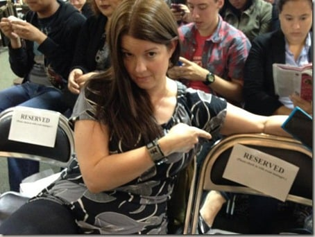 Amy and the reserved seat