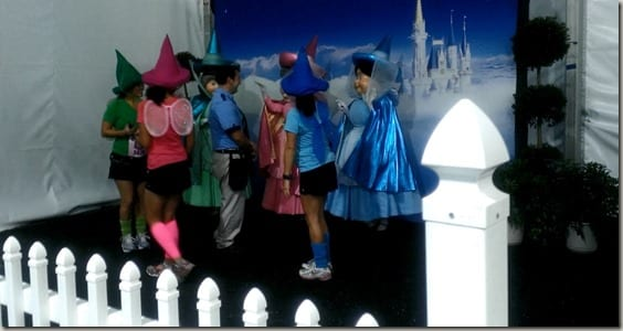 Characters at the Disney Princess Half Marathon Race Retreat