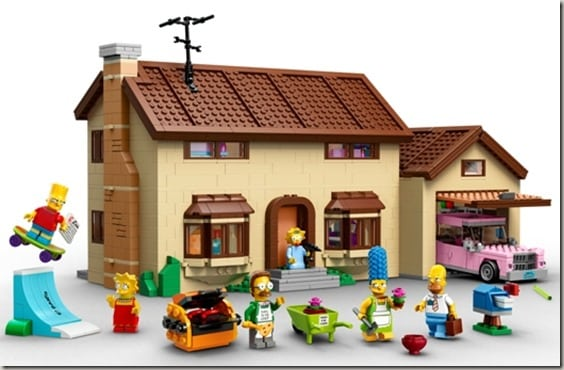 Simpsons Lego House - front