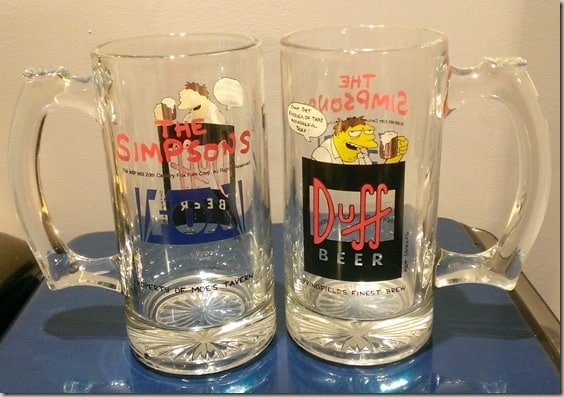 Duff Beer Mugs from The Simpsons