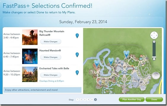 Walt Disney World FastPass  Reservations (10)