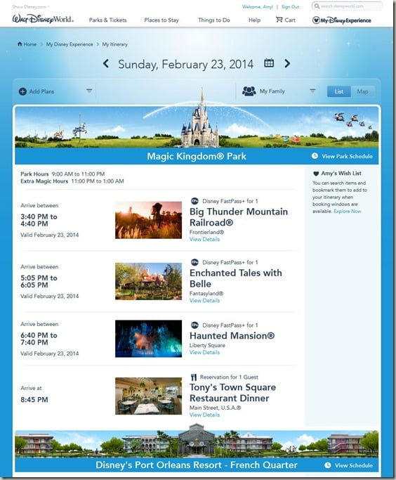 Walt Disney World FastPass  Reservations (23)