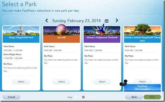 Walt Disney World FastPass  Reservations (4)