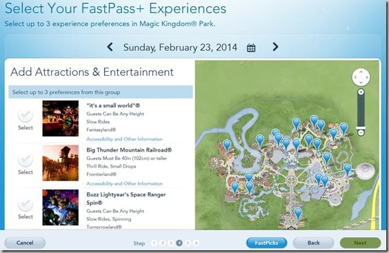 Walt Disney World FastPass  Reservations (5)