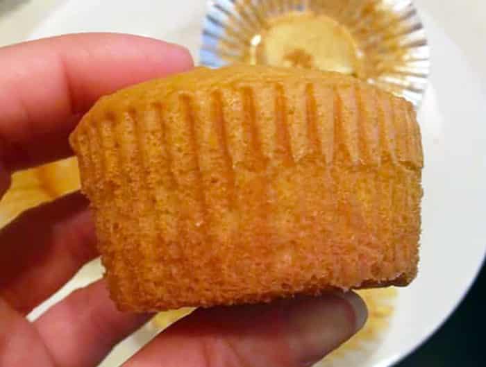 Foil cupcake liners: cupcake baked in paper liner