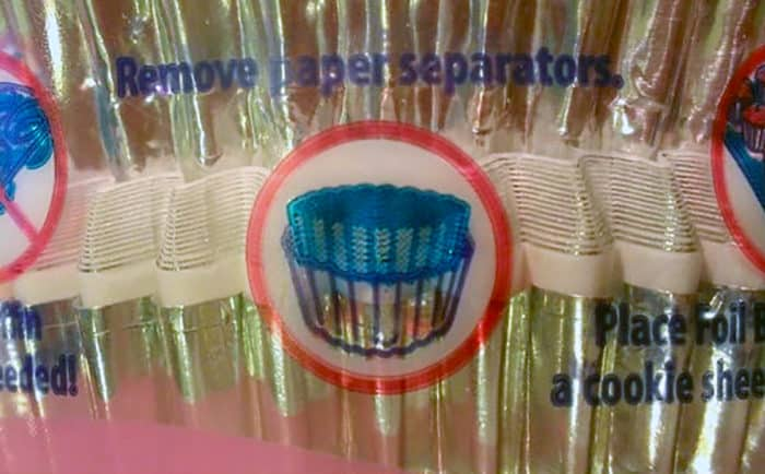 Foil cupcake liners: instructions