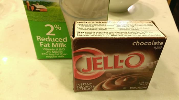 Jell-O Pudding Pops ingredients: 2% Milk, Chocolate Jell-O Instant Pudding