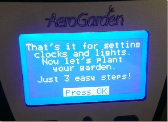 Indoor gardening with AeroGarden - setting up
