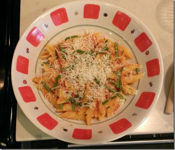 Indoor gardening with AeroGarden - pasta with basil