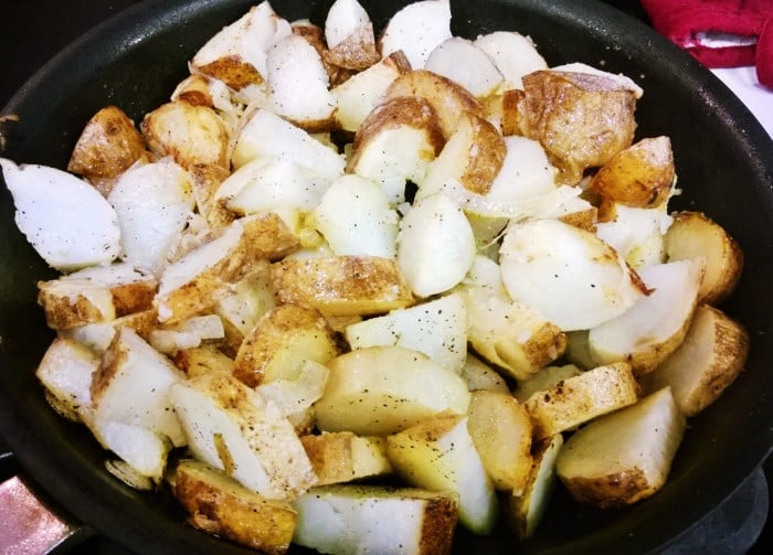 Perfect Diner Home Fries in pan