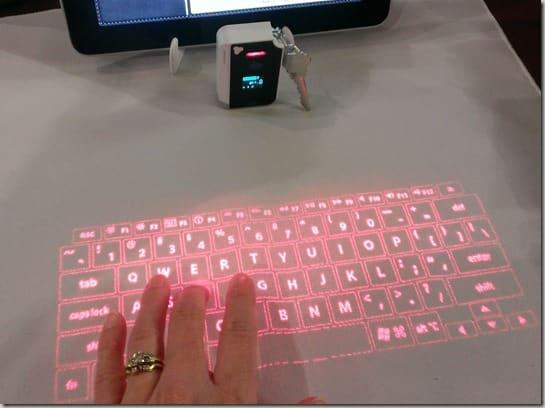 Brookstone's virtual keyboard