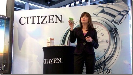 Citizen Watch Times Square event - Carol Rubin snack presentation