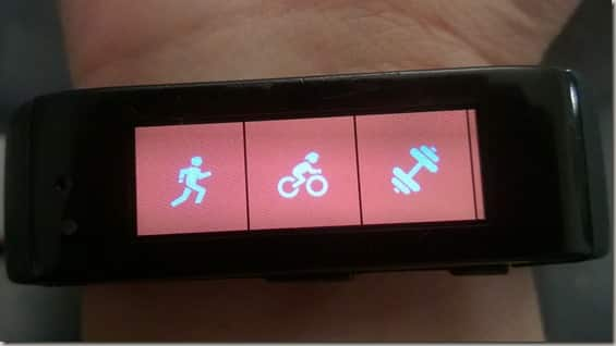 Microsoft Band new bike tile