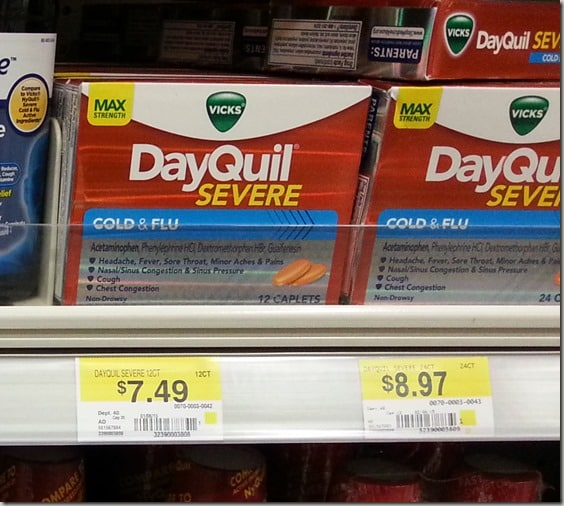 DayQuil and NyQuil at Wal-Mart