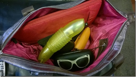 The Banana Bunker in my purse #SelfishMom