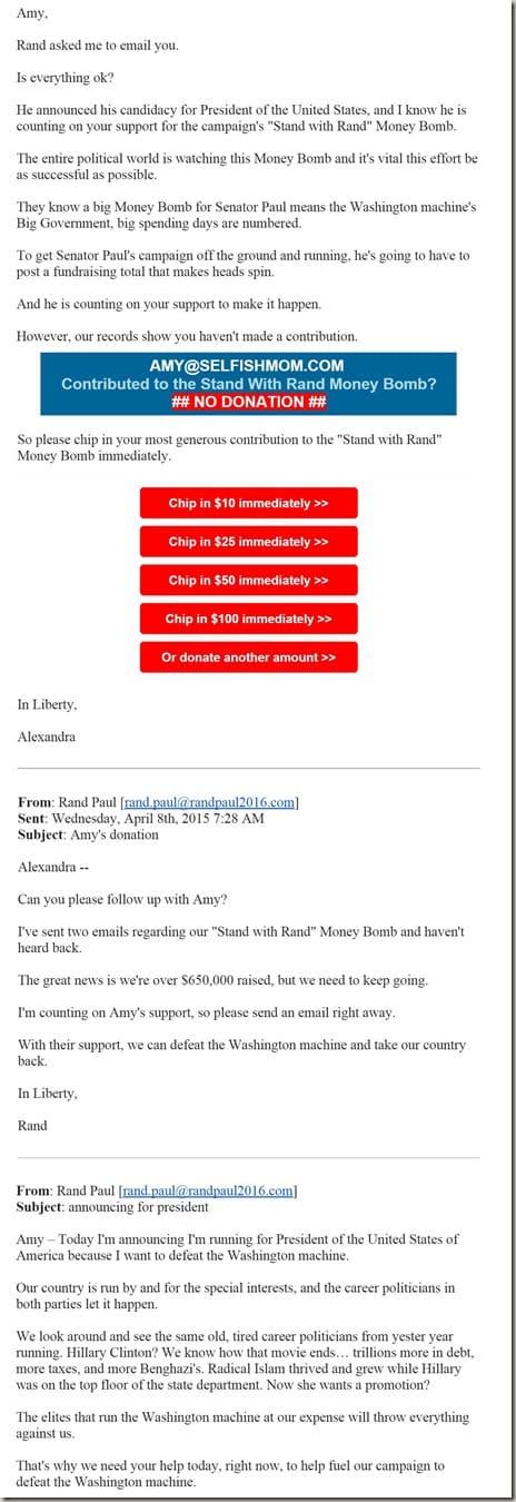 Rand Paul's creepy email to me SelfishMom