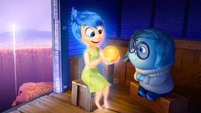 Joy and Sadness from Inside Out movie