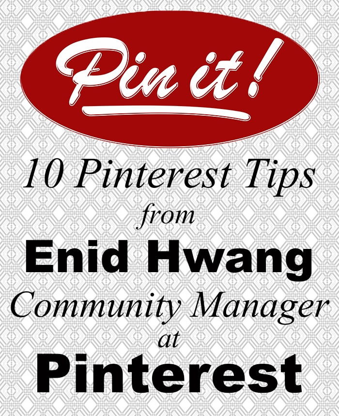 If you're looking for advice on how to make Pinterest.com work better for you, Pinterest employee Enid Hwang gave a small group of bloggers some excellent advice.