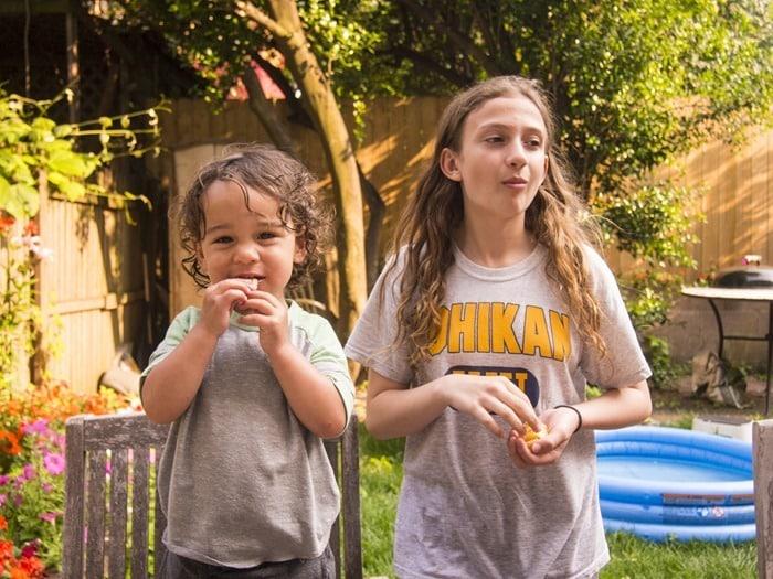 Cousins eating Cape Cod Potato Chips