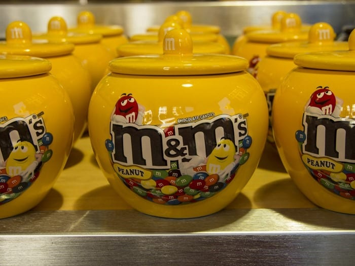 M&M's World Pop-Up NYC SoHo Peanut M&M's jar with lid