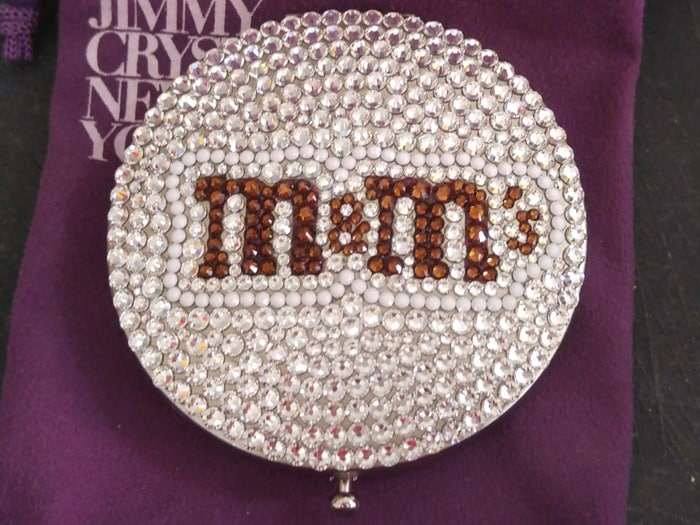 M&M's World Pop-Up Store NYC SoHo Swarovski crystal compact