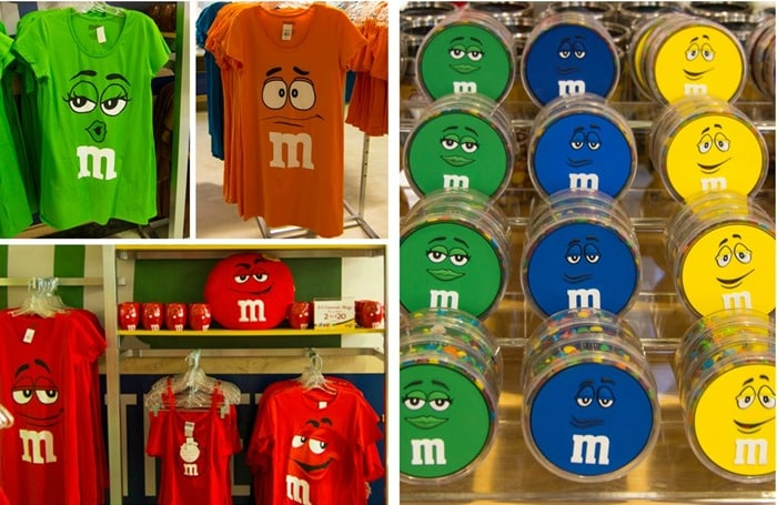 M&M's World Pop-Up Store NYC SoHo color character items