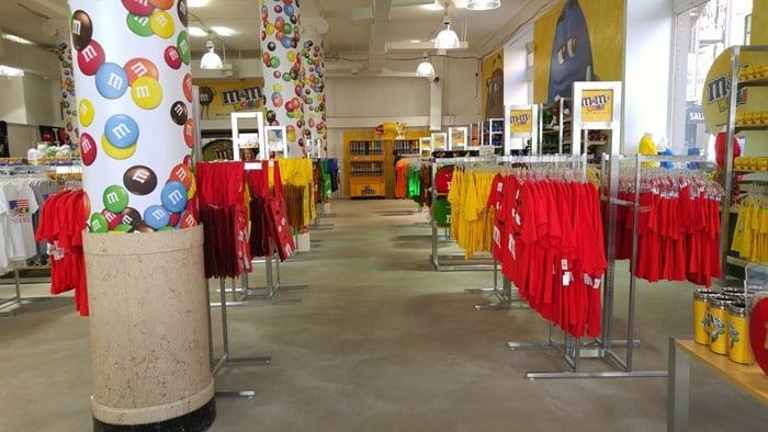 M&M's World Pop-Up Store NYC SoHo - interior of store