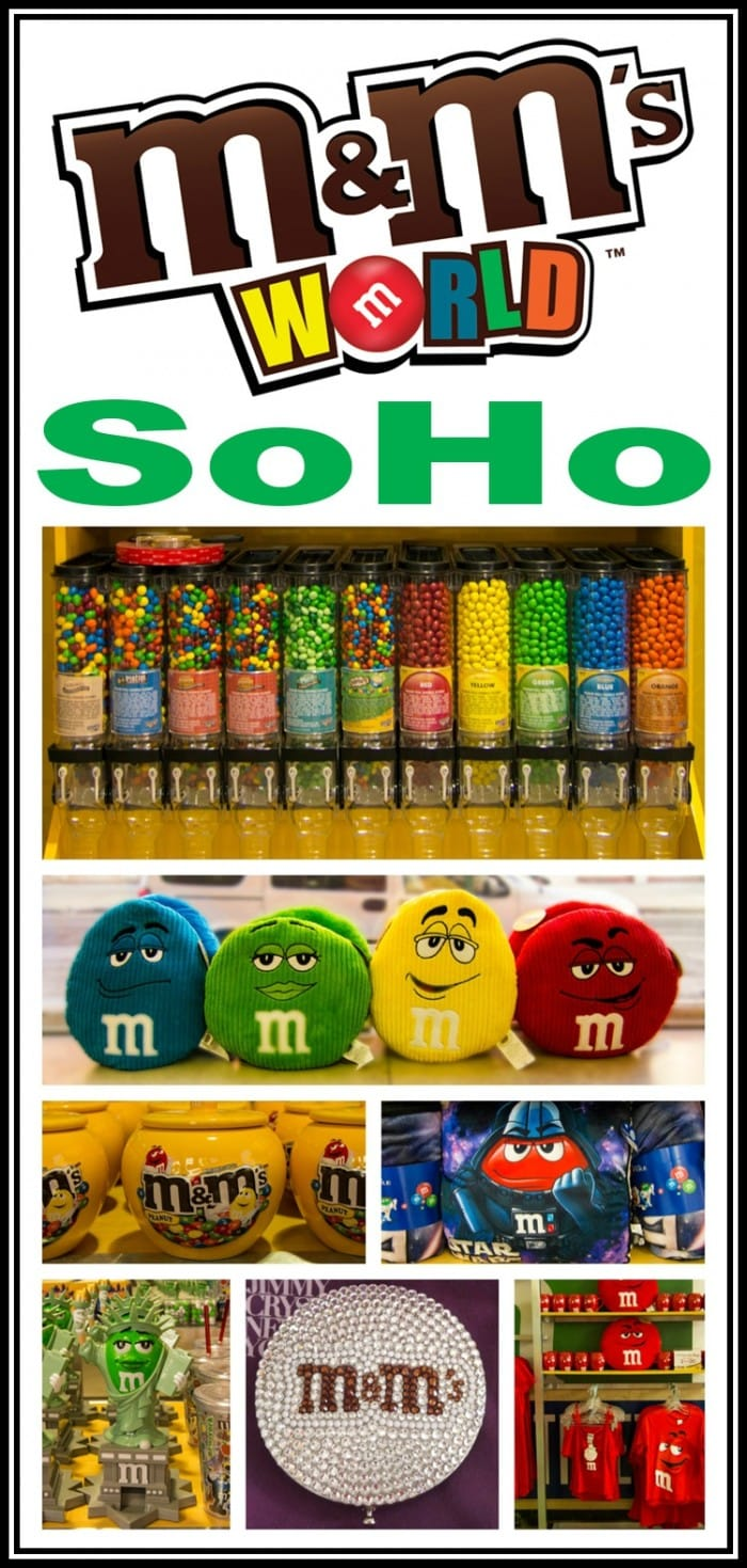 There's an M&M's World pop-up store in SoHo in Manhattan, and it's really great! It has all of the familiar M&M's merchandise, but some items exclusive to NYC.