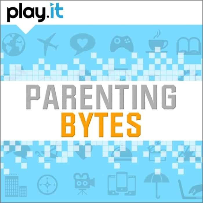 """Have you listened to the Parenting Bytes podcast? It's all about raising kids in the digital age. We cover everything from online safety to great apps and gadgets to current events discussions and special guests. You can listen on iTunes (just search for """"parenting Bytes""""), or click to listen on the Play.It podcast network."""