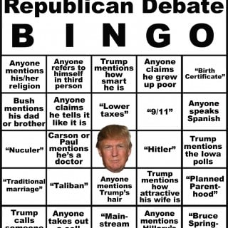 Republican Debate BINGO