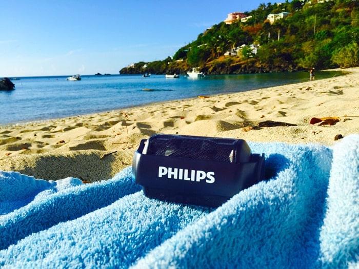 ShoqBox Mini Bluetooth Speaker on beach