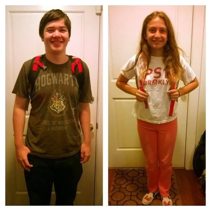 My kids on the first day of school 2015