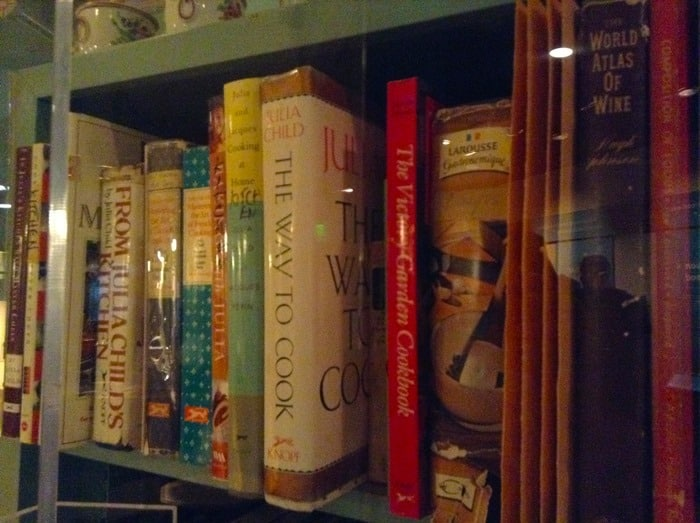 Julia Child's recipe books at the Museum of American History in Washington D.C.