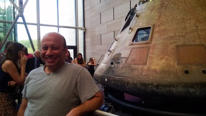 Omer at Air and Space Museum in Washington D.C.