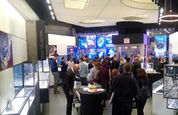 Citizen Watch Satellite Event - inside of Times Square Store