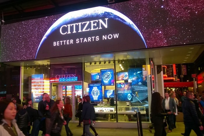 Citizen Watch Satellite Event - outside of Times Square Store
